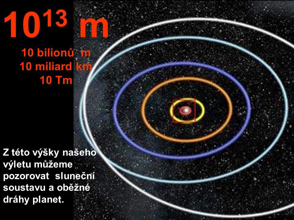 1013 m 10 bilionů m 10 miliard km 10 Tm