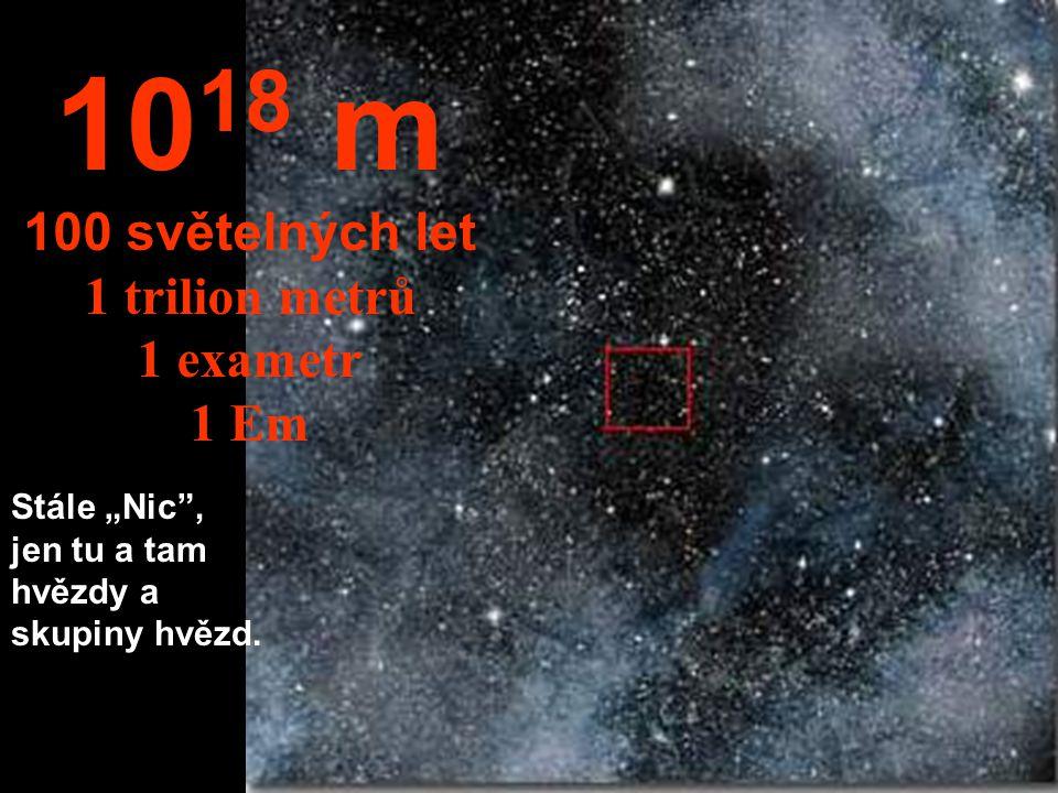1018 m 100 světelných let 1 trilion metrů 1 exametr 1 Em