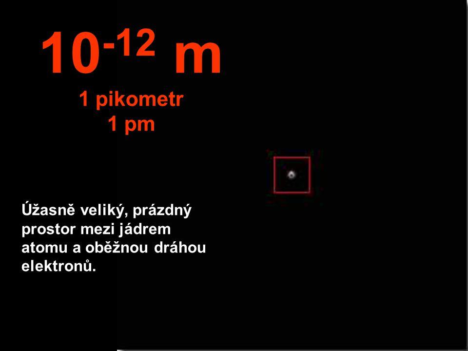 10-12 m 1 pikometr. 1 pm.