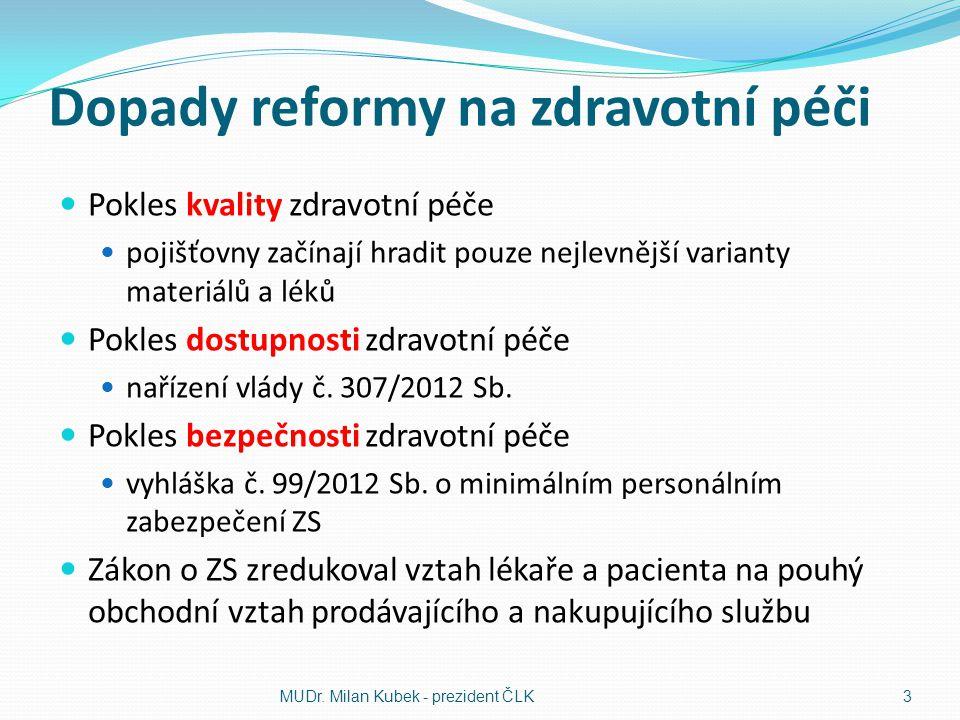 Dopady reformy na zdravotní péči