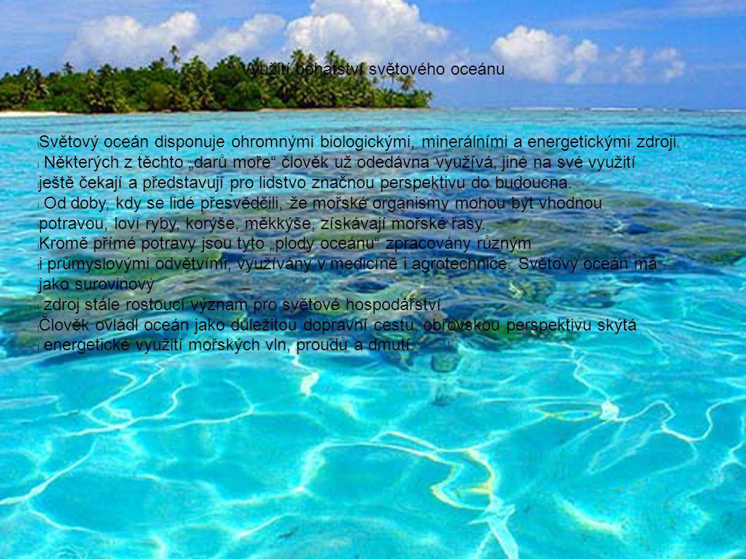 Využití bohatství světového oceánu