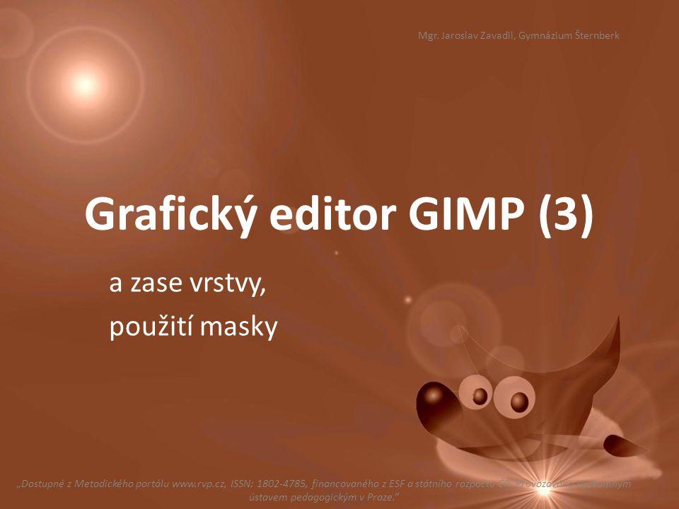 Grafický editor GIMP (3)