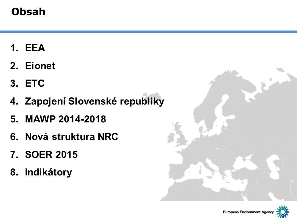 Zapojení Slovenské republiky MAWP 2014-2018 Nová struktura NRC