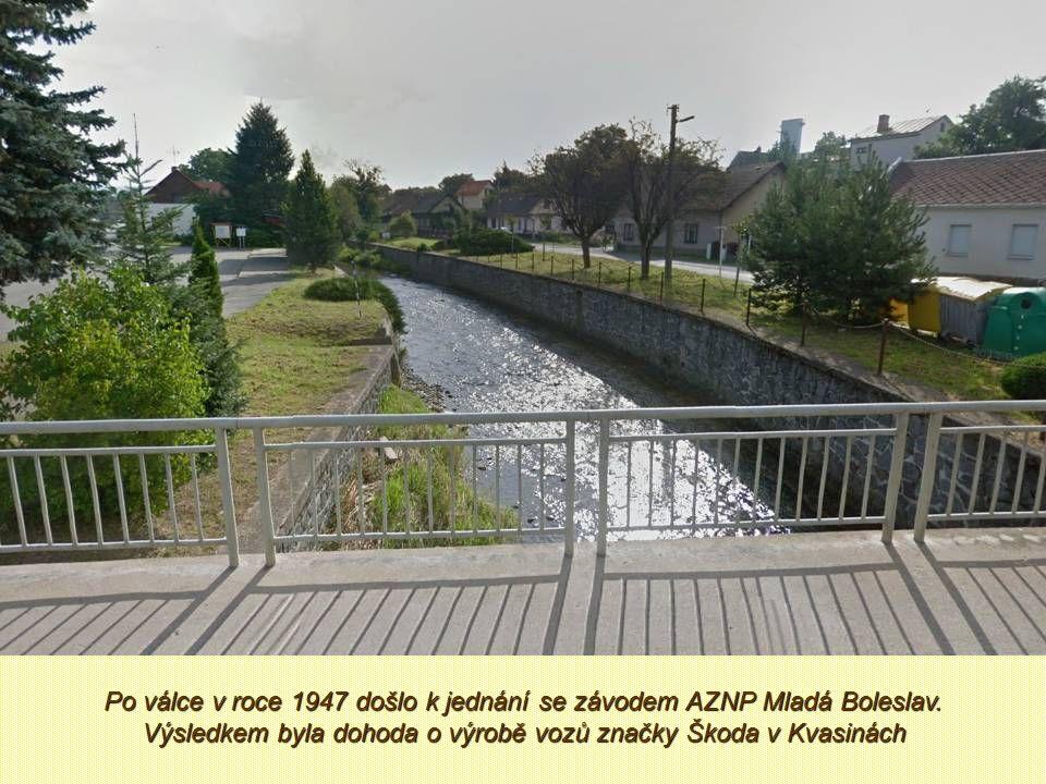 Po válce v roce 1947 došlo k jednání se závodem AZNP Mladá Boleslav