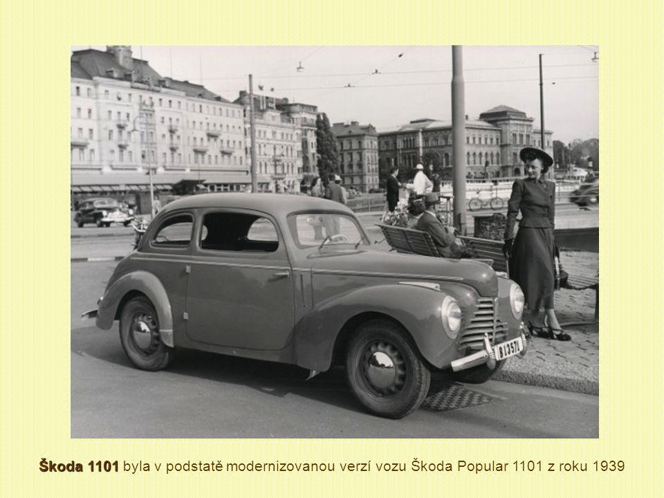 Škoda 1101 byla v podstatě modernizovanou verzí vozu Škoda Popular 1101 z roku 1939