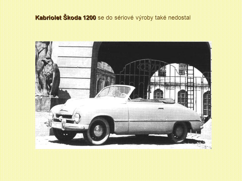 Kabriolet Škoda 1200 se do sériové výroby také nedostal
