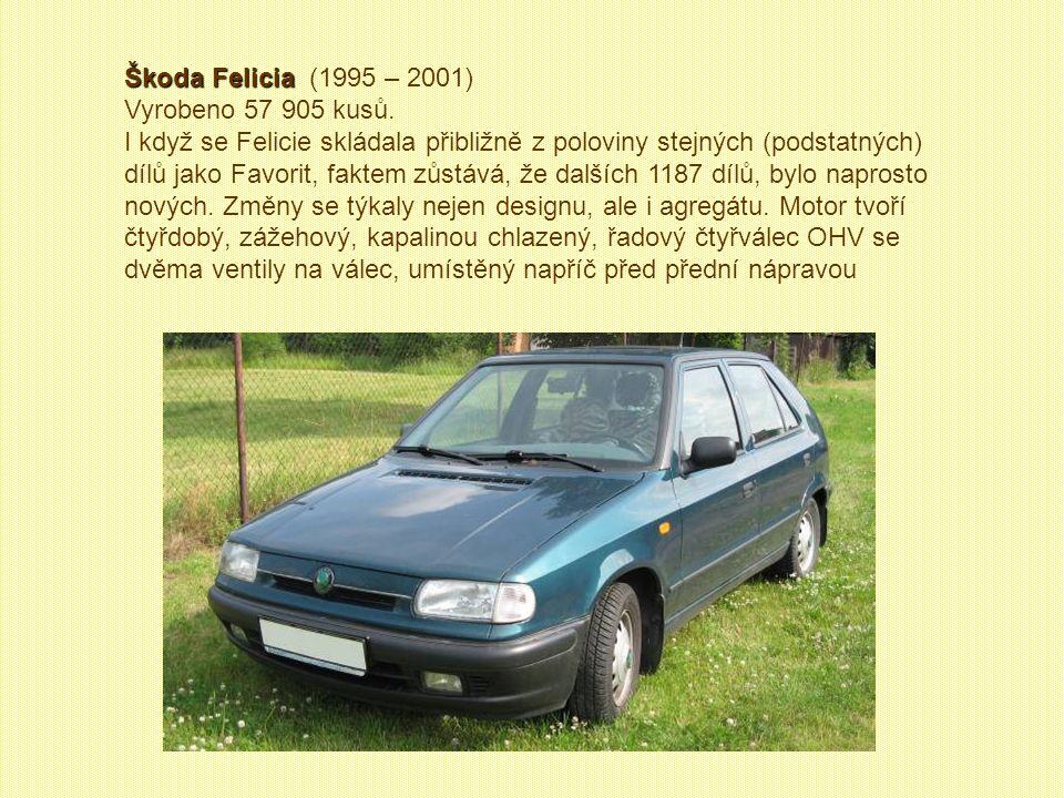 Škoda Felicia (1995 – 2001) Vyrobeno 57 905 kusů.
