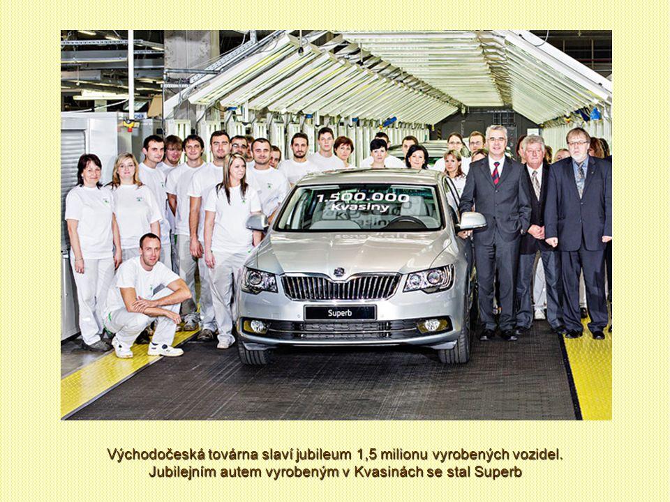 Východočeská továrna slaví jubileum 1,5 milionu vyrobených vozidel.