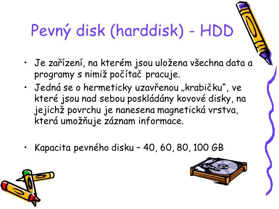 Pevný disk (harddisk) - HDD