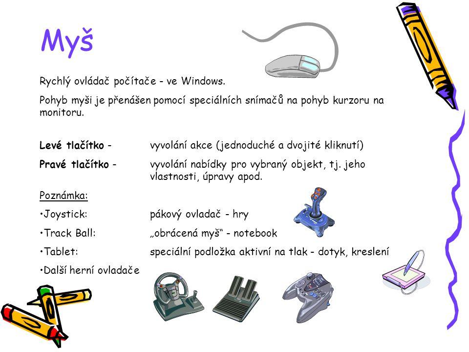 Myš Rychlý ovládač počítače - ve Windows.