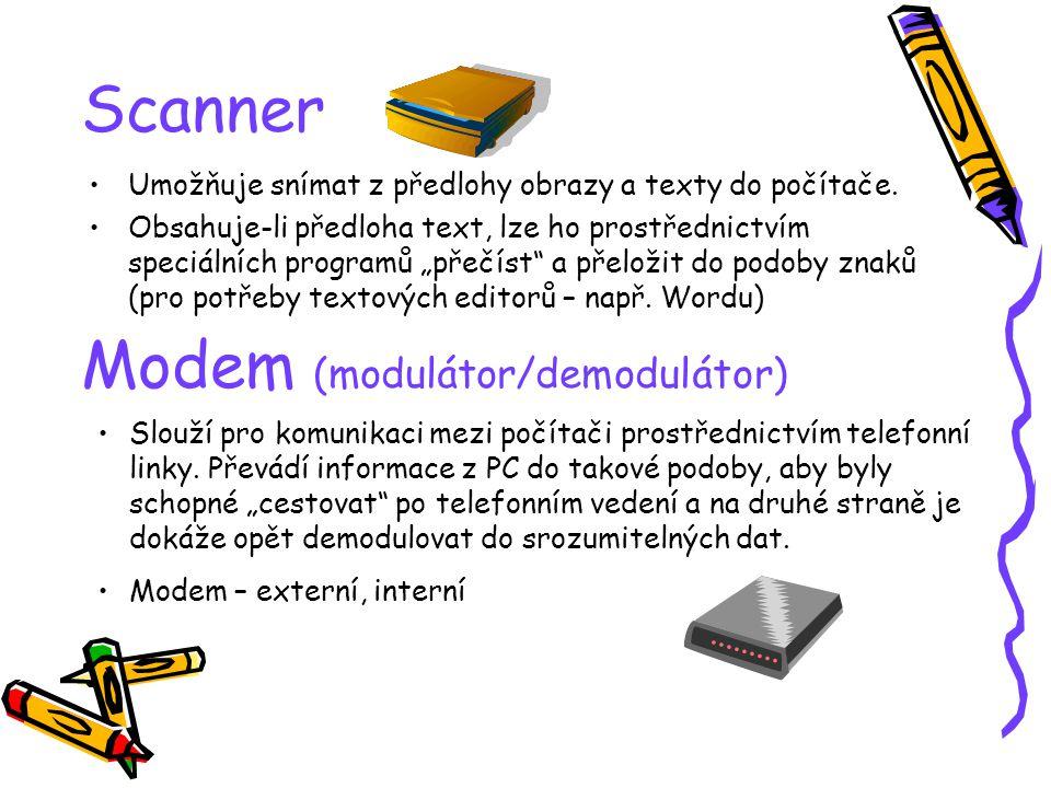Modem (modulátor/demodulátor)