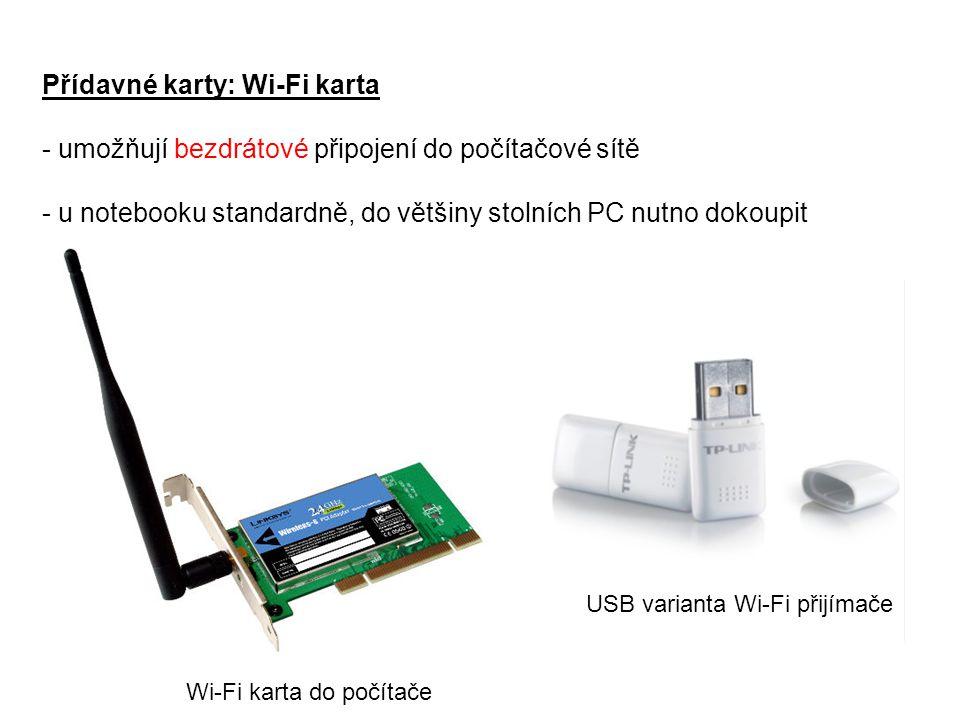 Přídavné karty: Wi-Fi karta