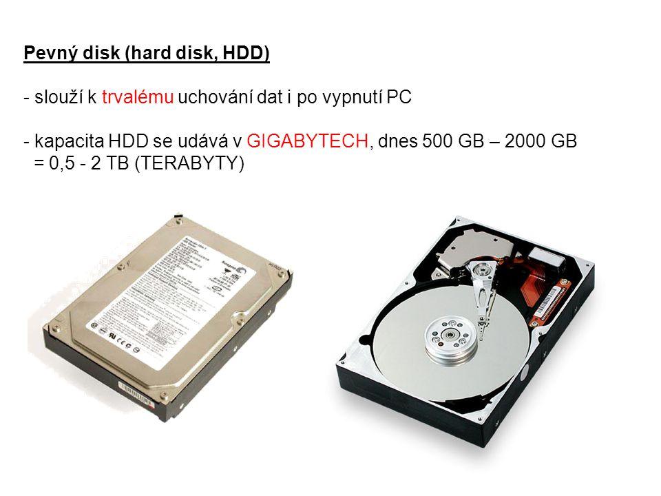 Pevný disk (hard disk, HDD)