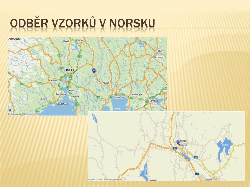Odběr vzorků v Norsku