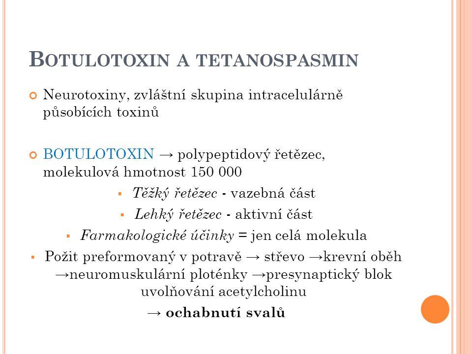Botulotoxin a tetanospasmin