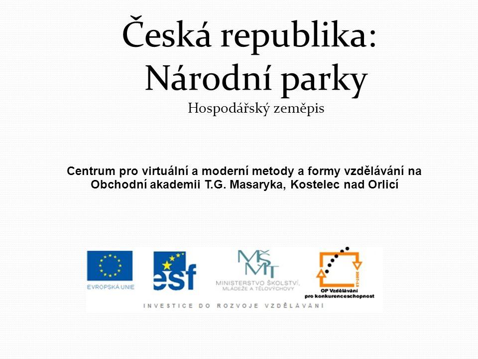 Česká republika: Národní parky Hospodářský zeměpis