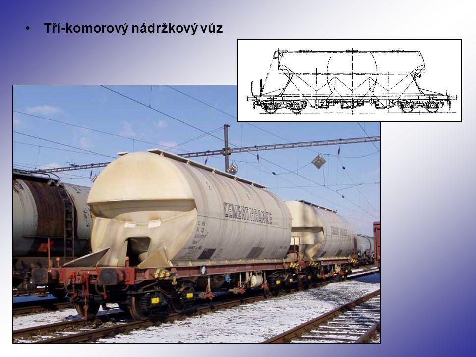Tří-komorový nádržkový vůz