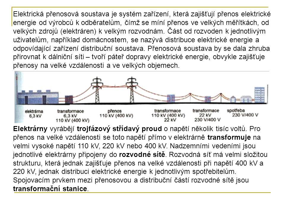 Elektrická přenosová soustava je systém zařízení, která zajišťují přenos elektrické energie od výrobců k odběratelům, čímž se míní přenos ve velkých měřítkách, od velkých zdrojů (elektráren) k velkým rozvodnám. Část od rozvoden k jednotlivým uživatelům, například domácnostem, se nazývá distribuce elektrické energie a odpovídající zařízení distribuční soustava. Přenosová soustava by se dala zhruba přirovnat k dálniční síti – tvoří páteř dopravy elektrické energie, obvykle zajišťuje přenosy na velké vzdálenosti a ve velkých objemech.