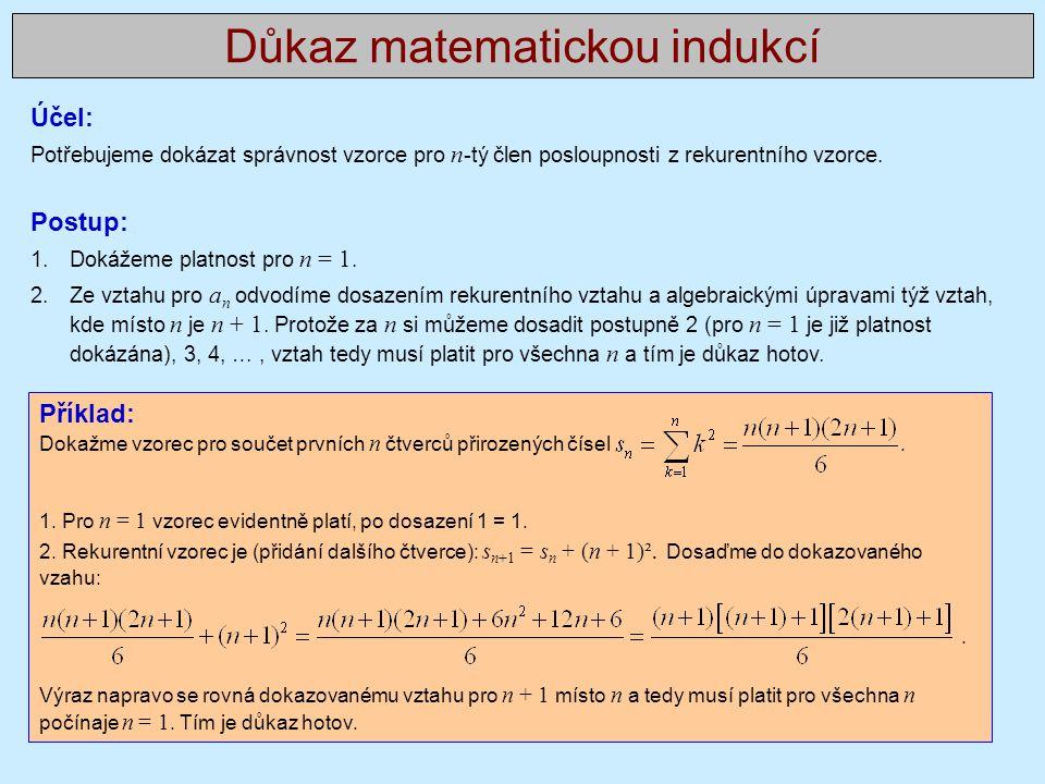 Důkaz matematickou indukcí