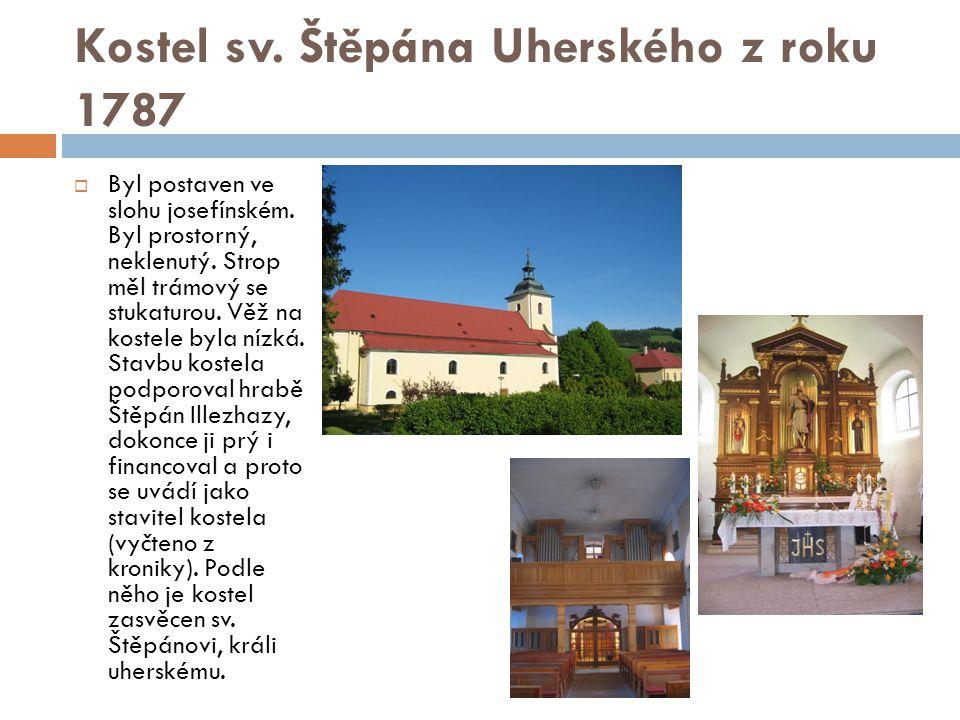 Kostel sv. Štěpána Uherského z roku 1787