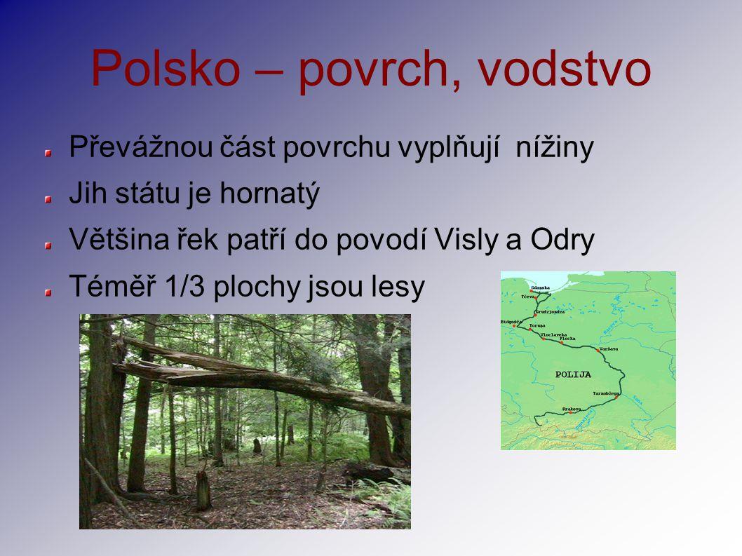 Polsko – povrch, vodstvo