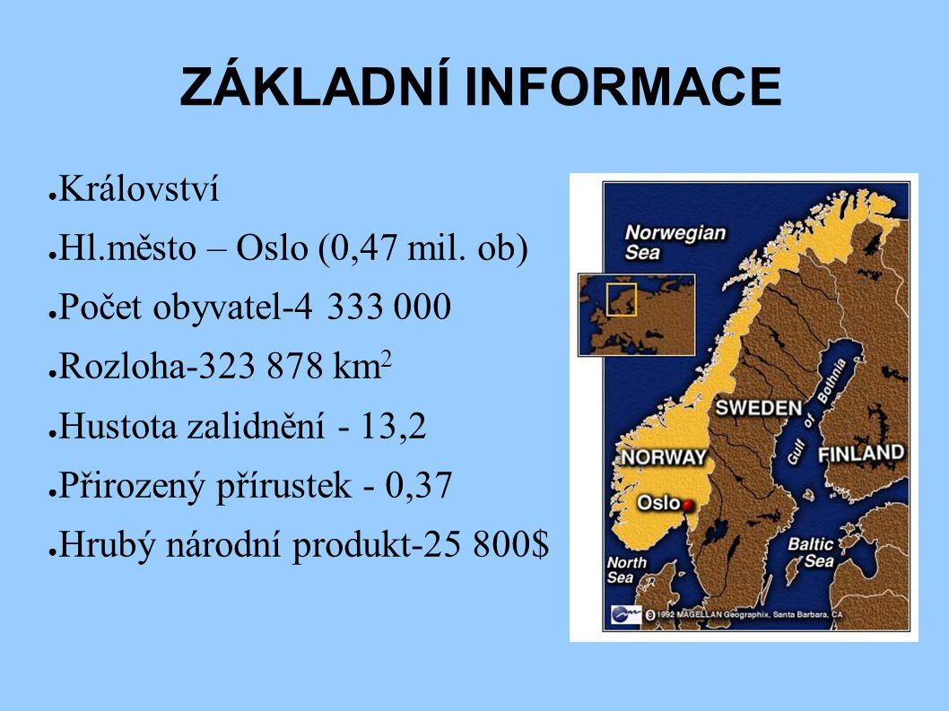 ZÁKLADNÍ INFORMACE Království Hl.město – Oslo (0,47 mil. ob)