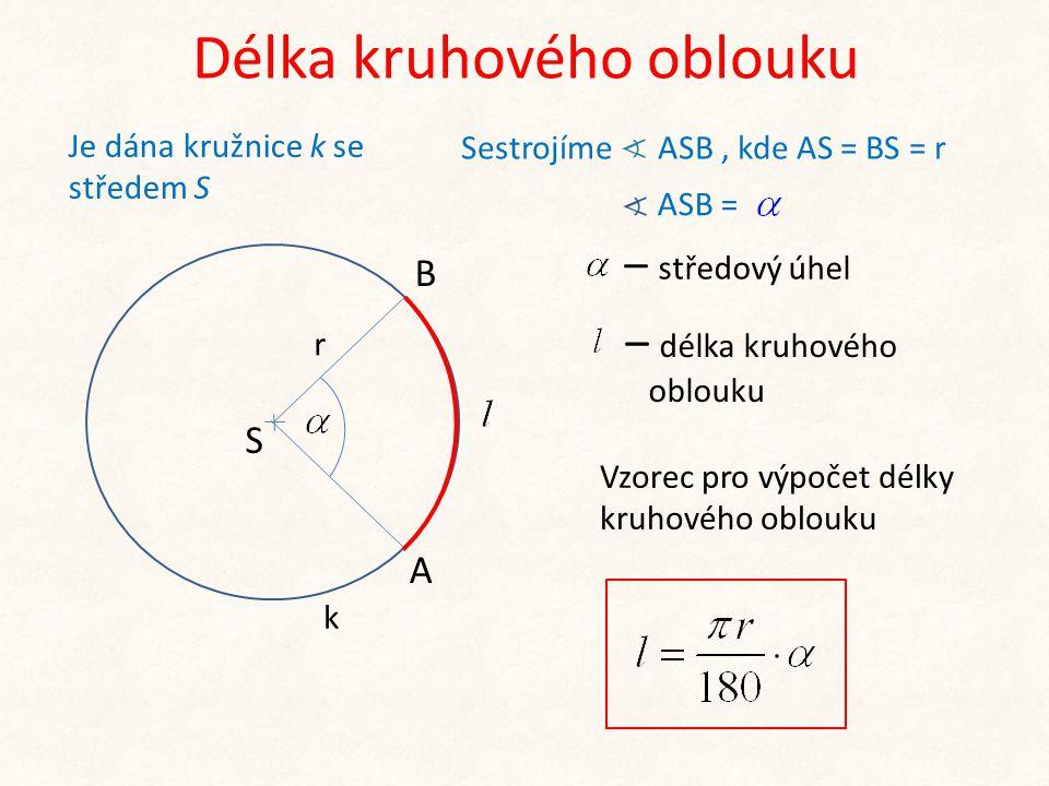 Délka kruhového oblouku