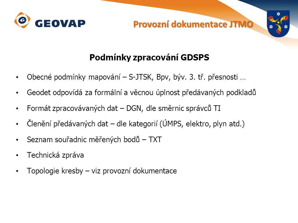 Podmínky zpracování GDSPS