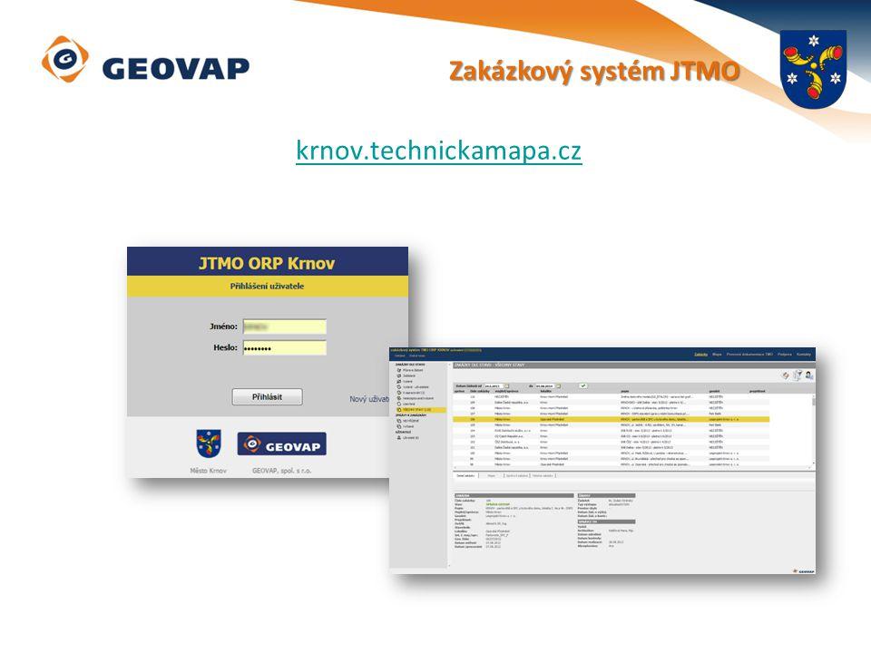 Zakázkový systém JTMO krnov.technickamapa.cz