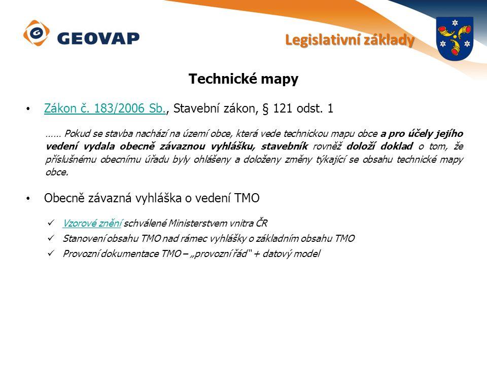 Legislativní základy Technické mapy