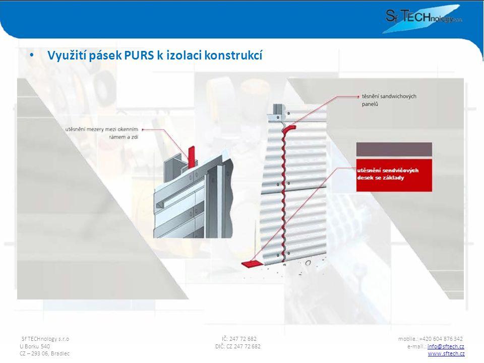 Využití pásek PURS k izolaci konstrukcí