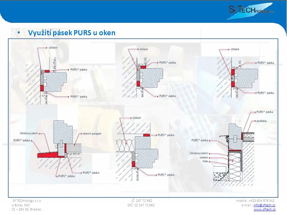 Využití pásek PURS u oken