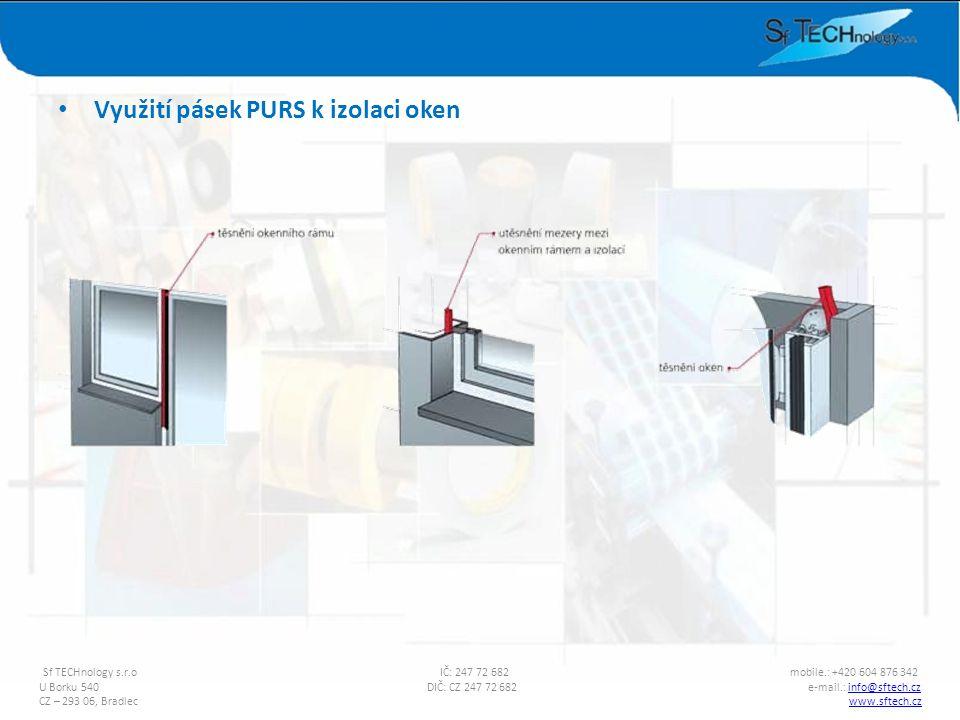 Využití pásek PURS k izolaci oken