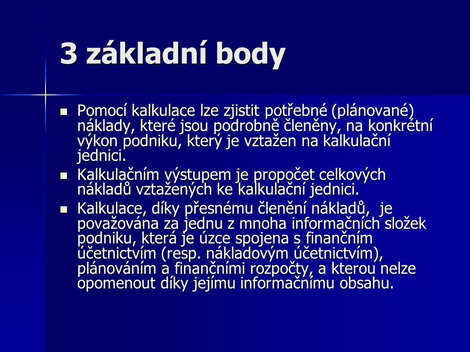 3 základní body