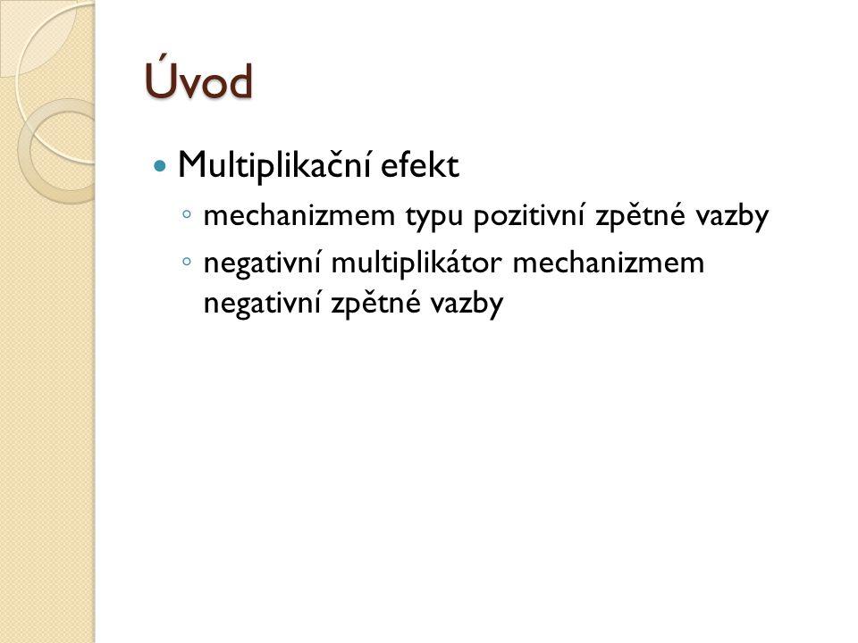 Úvod Multiplikační efekt mechanizmem typu pozitivní zpětné vazby