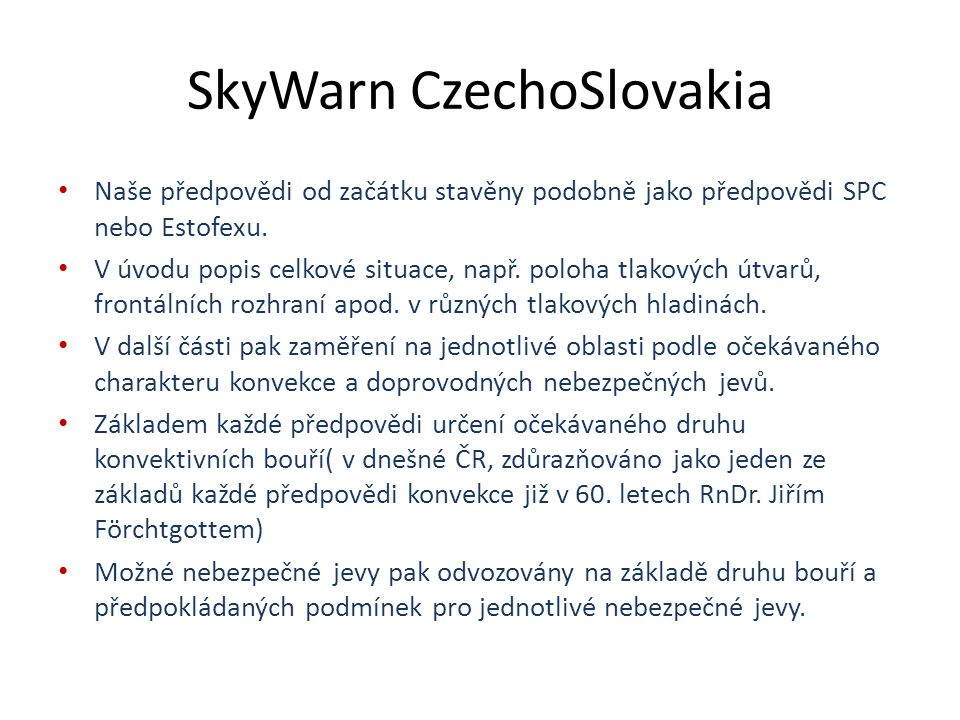 SkyWarn CzechoSlovakia