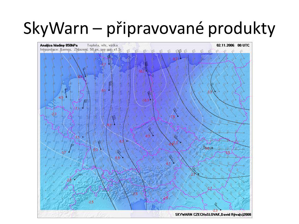SkyWarn – připravované produkty