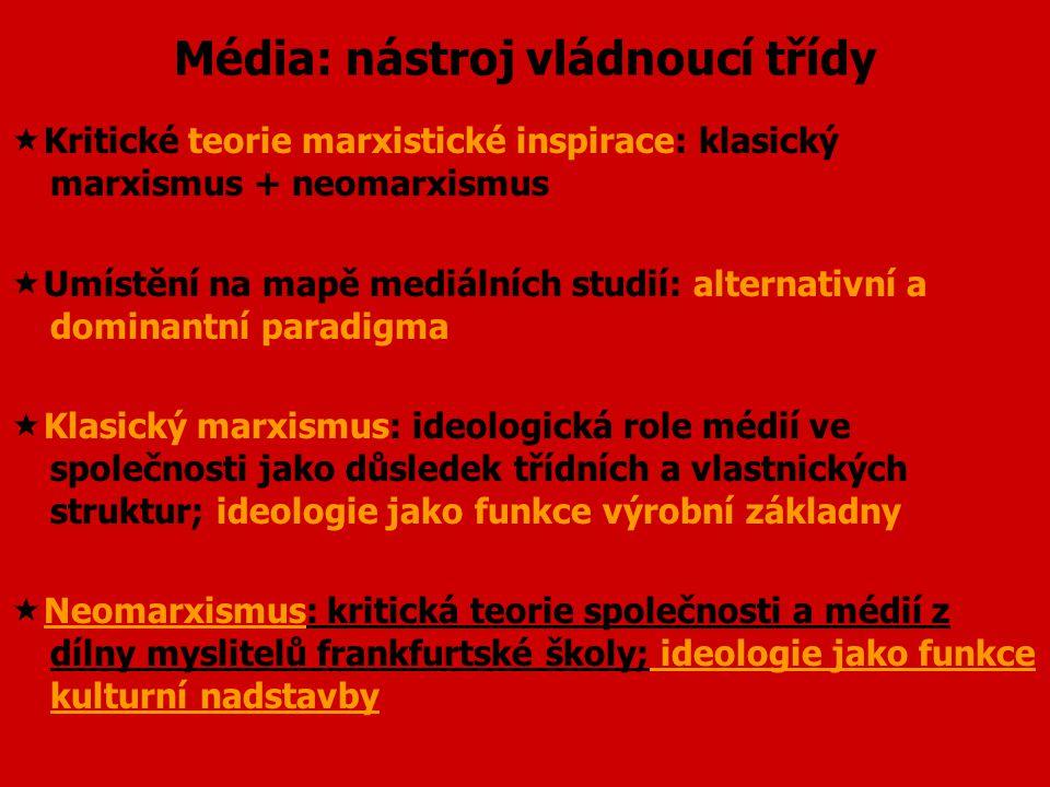 Média: nástroj vládnoucí třídy