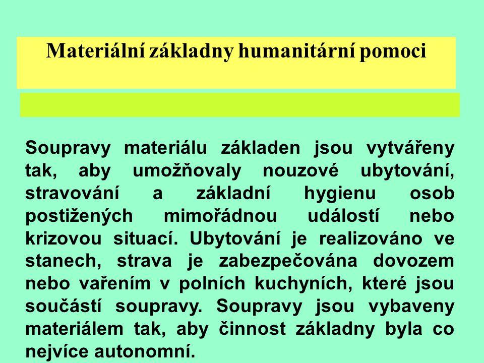 Materiální základny humanitární pomoci