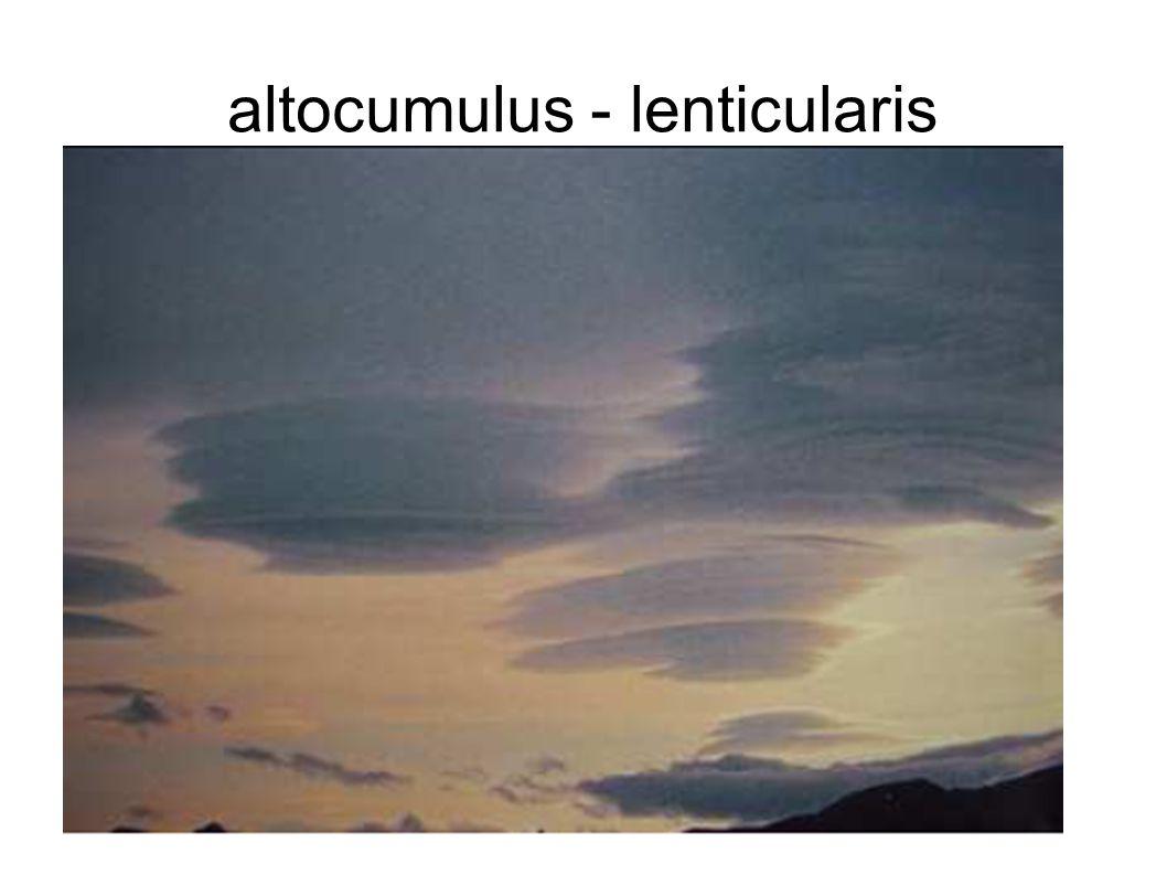 altocumulus - lenticularis