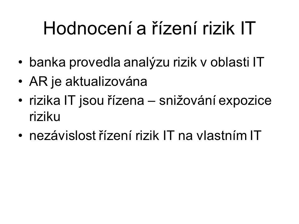 Hodnocení a řízení rizik IT