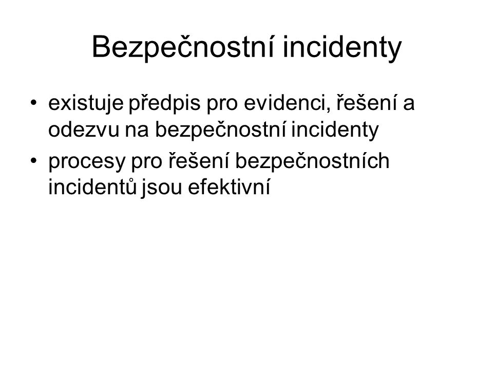 Bezpečnostní incidenty