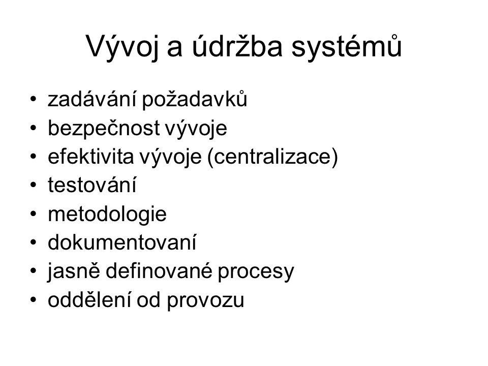 Vývoj a údržba systémů zadávání požadavků bezpečnost vývoje