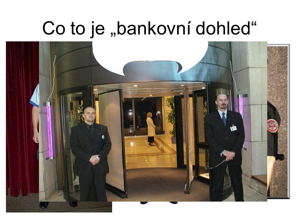 """Co to je """"bankovní dohled"""