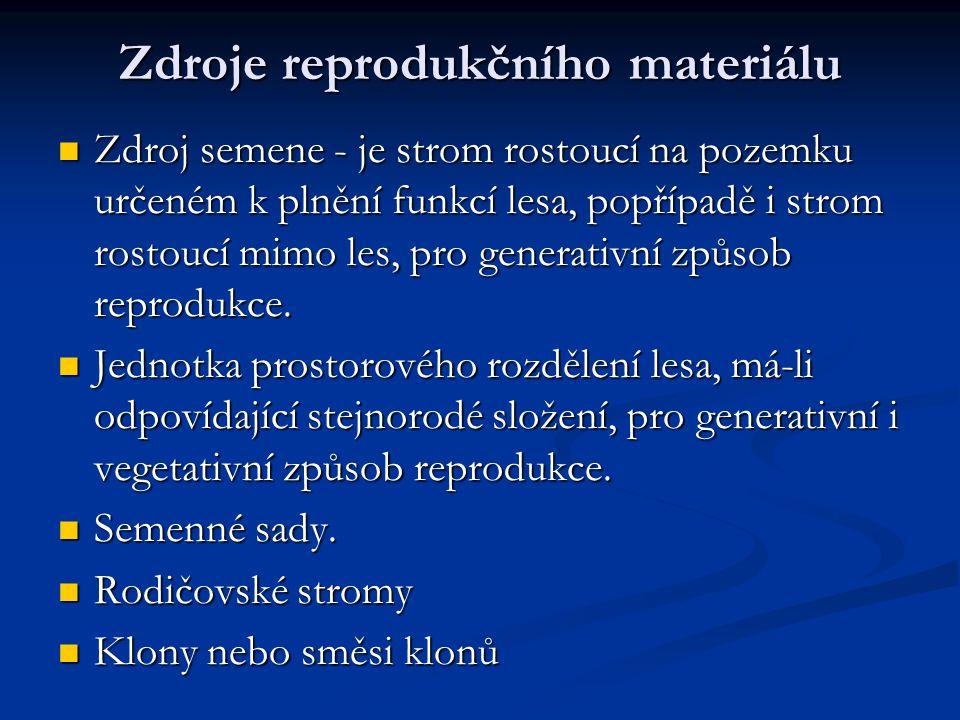 Zdroje reprodukčního materiálu
