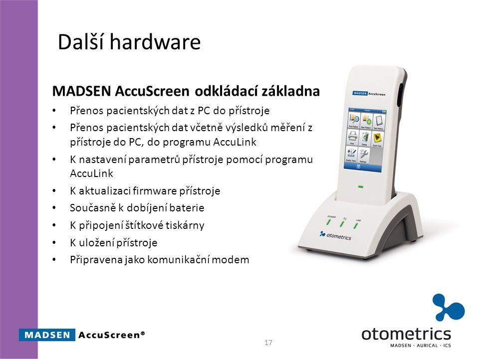 Další hardware MADSEN AccuScreen odkládací základna