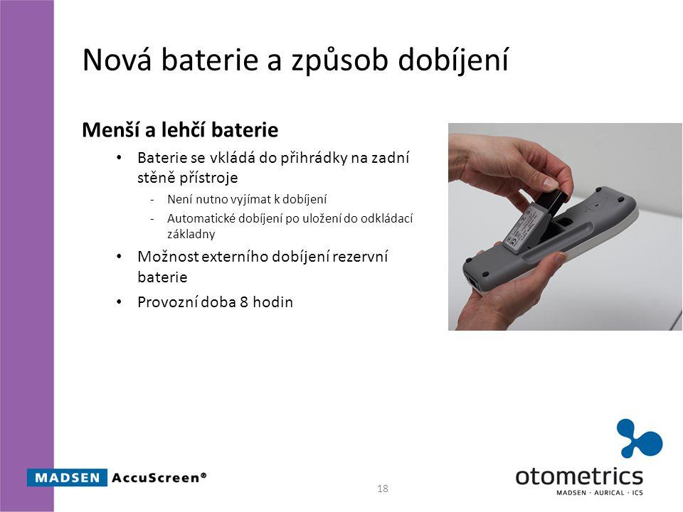 Nová baterie a způsob dobíjení