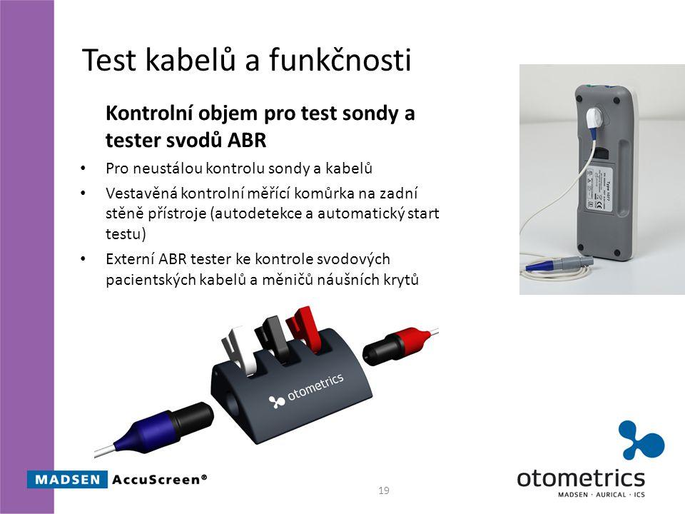Test kabelů a funkčnosti