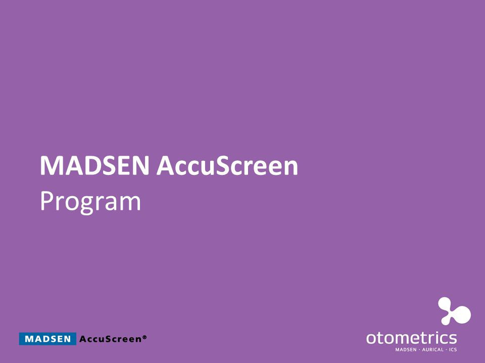 MADSEN AccuScreen Program