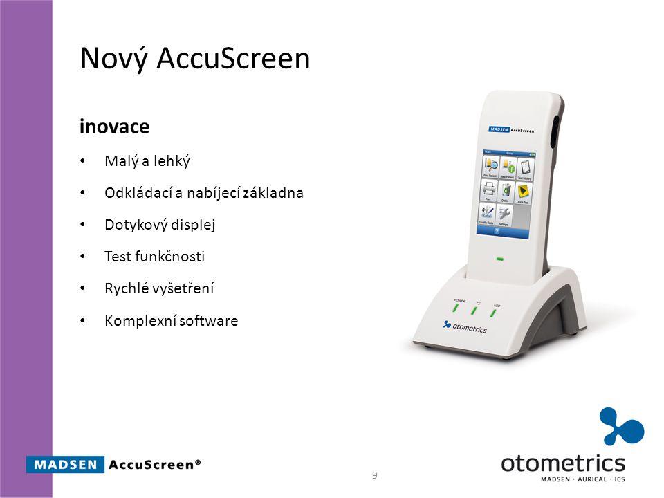 Nový AccuScreen inovace Malý a lehký Odkládací a nabíjecí základna